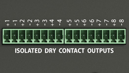VTX40 dry contact outputs inputs